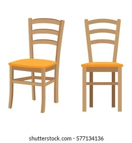 wooden chairs pictures barcelona chair uk images stock photos vectors shutterstock vector isolated illustration