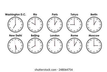 world clocks images stock
