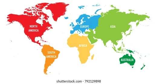 world map vector continents
