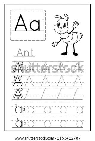 Writing Practice Letter Printable Worksheet Preschool