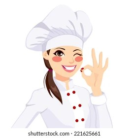 girl chef images stock