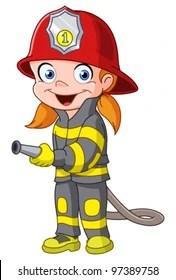 fireman cartoon images stock