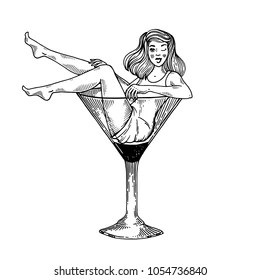 Cartoon Martini Glass Clip Art Images, Stock Photos