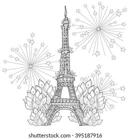 eiffel tower coloring pages # 11