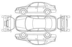 Similar Images, Stock Photos & Vectors of Car Line Draw