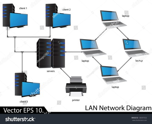 small resolution of lan network diagram vector illustrator eps 10 for business and technology concept