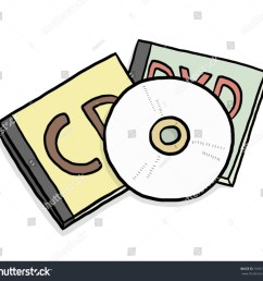 cd and dvd cassette box cartoon vector and illustration isolated on white background  [ 1500 x 1413 Pixel ]