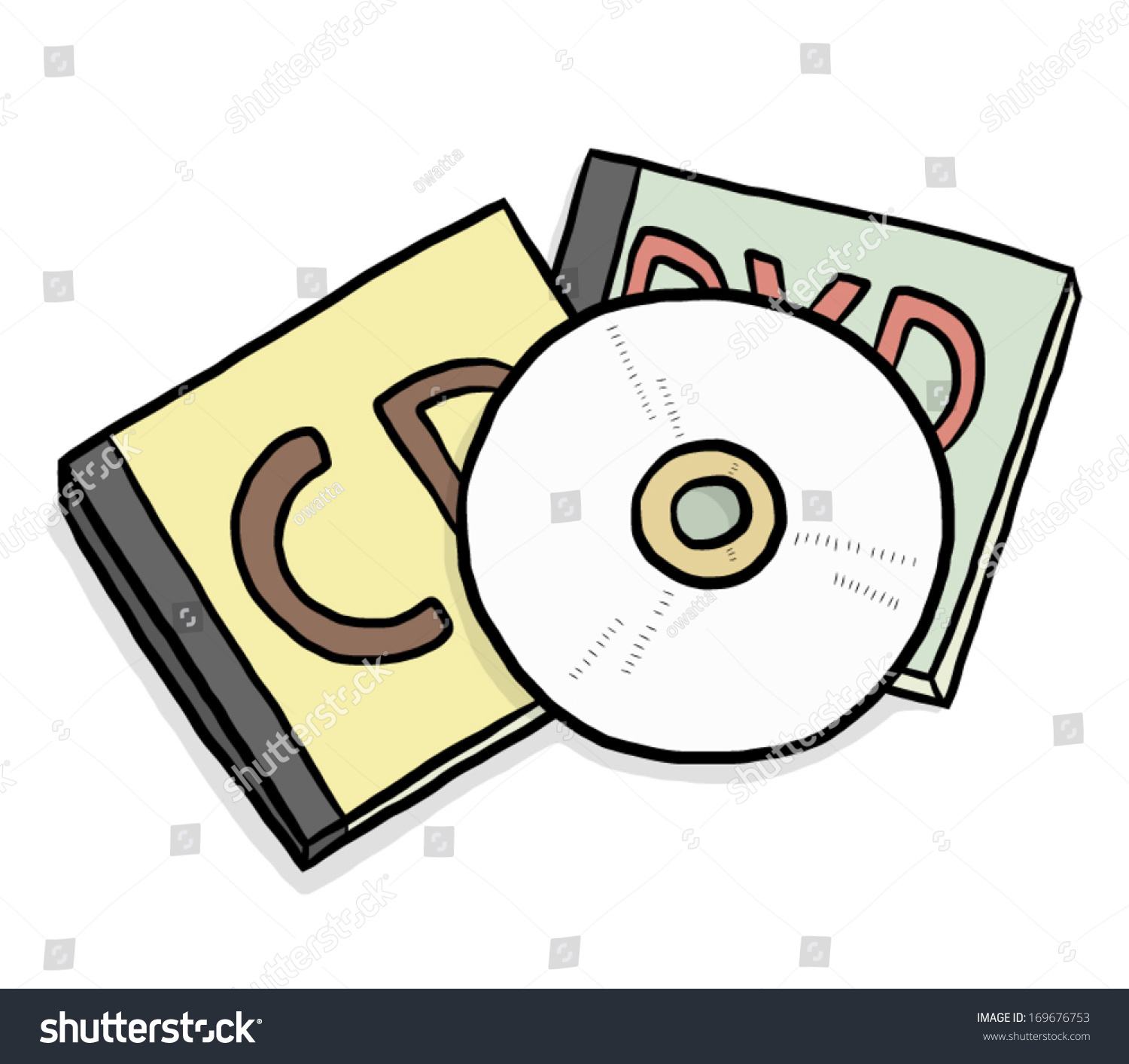 hight resolution of cd and dvd cassette box cartoon vector and illustration isolated on white background