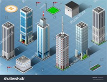 Royalty-free Isometric Building City Palace Private