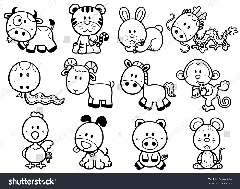 Vector Illustration Of Chinese Zodiac Stock Photo