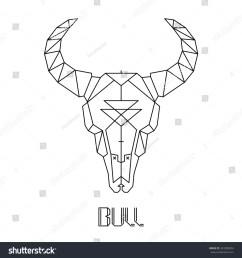 bull skull cow skull vector 261808034 [ 1500 x 1600 Pixel ]