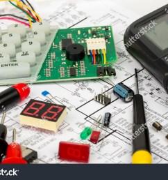 alarm workbench electronics repair stock photo 302935625 avopix com electronic resistance circuit diagram connections royalty free stock [ 1500 x 1101 Pixel ]