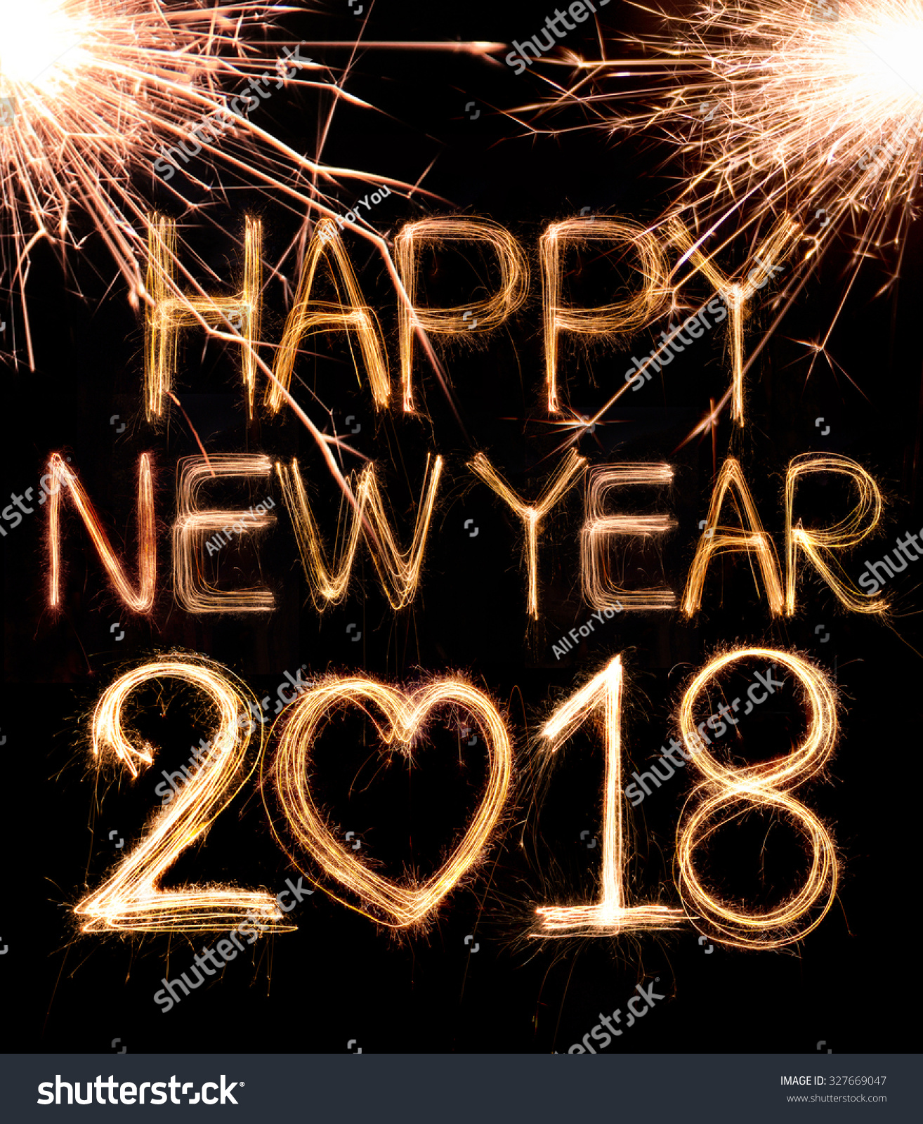 Royalty Free Happy New Year 2018 Written With 327669047