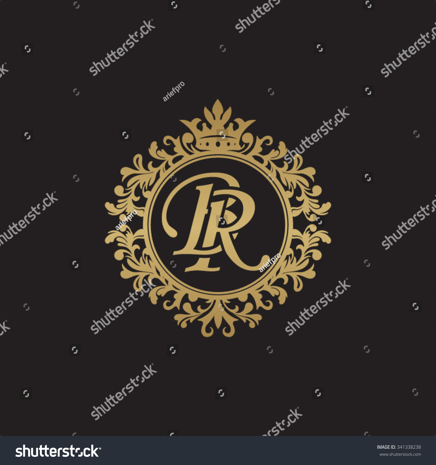 br initial luxury ornament
