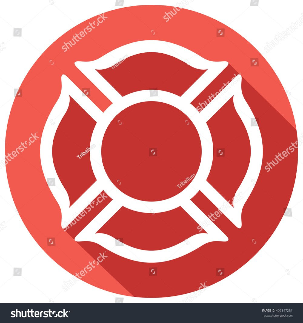 medium resolution of fire department or firefighters maltese cross symbol flat icon 407147251