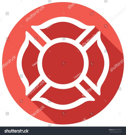small resolution of fire department or firefighters maltese cross symbol flat icon 407147251