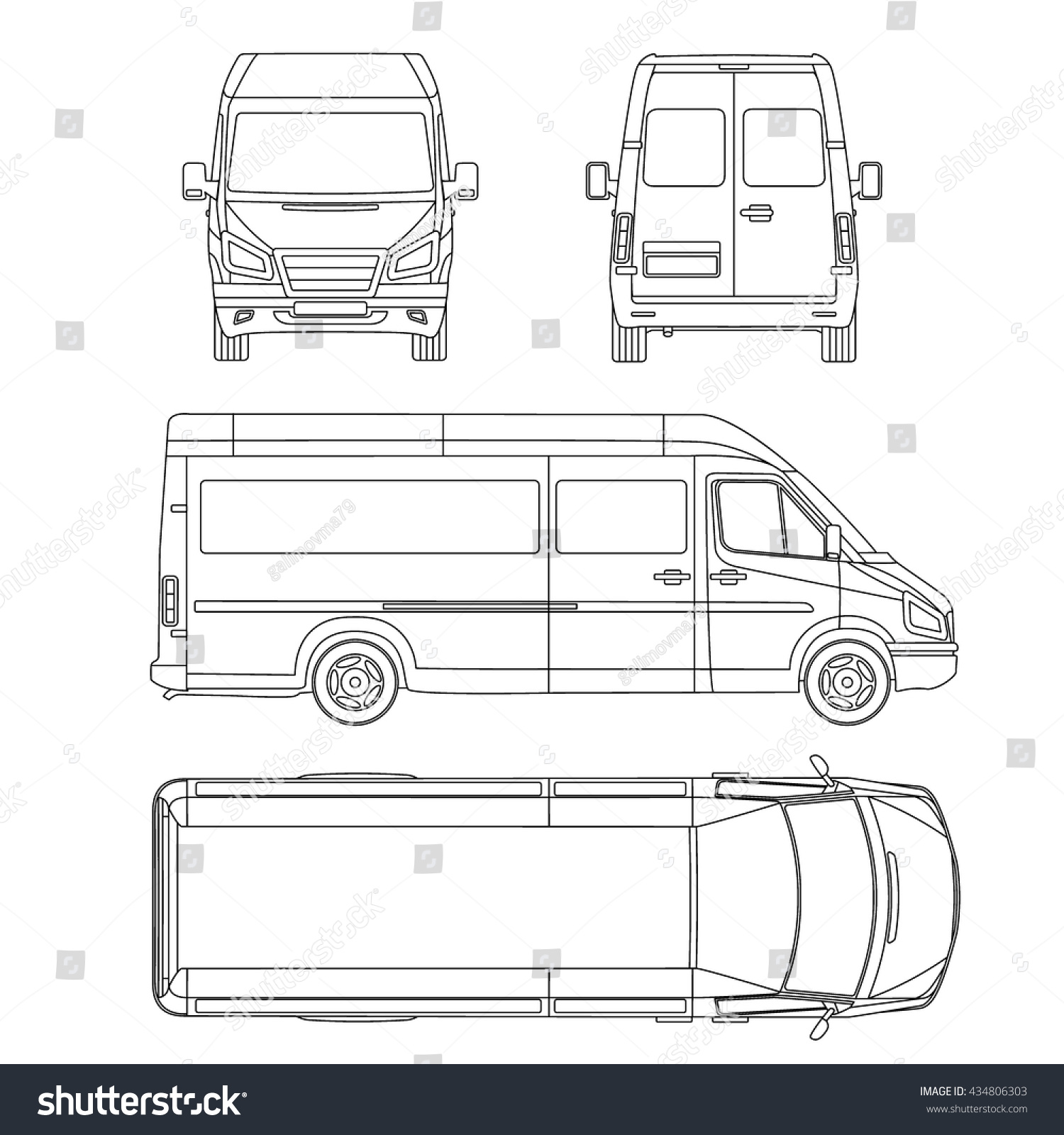 commuter van damage inspection diagram 2004 kenworth t800 ac wiring royalty free car template white blank commercial