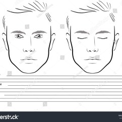 Blank Face Diagram Botox Stereo Plug Wiring Royalty Free Men Chart Makeup Artist