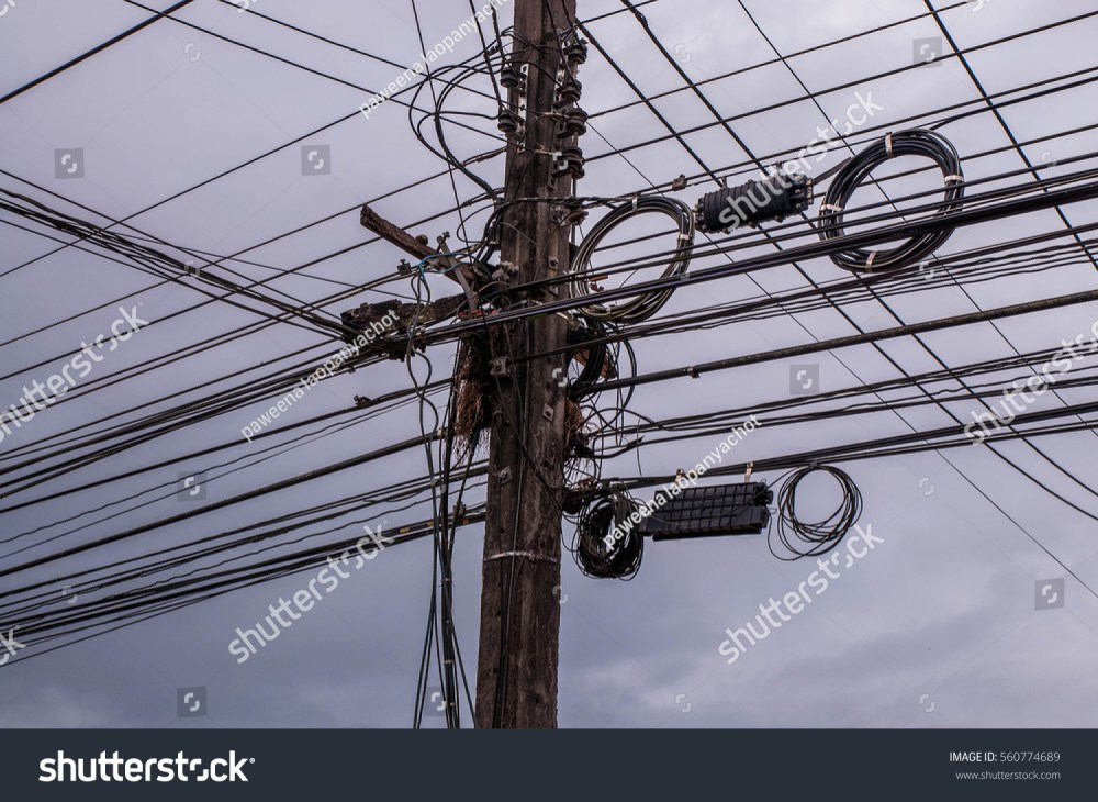 medium resolution of electric poles and electric wire with blue sky electric pole with electric wire tangled