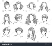 royalty-free hairstyles illustration