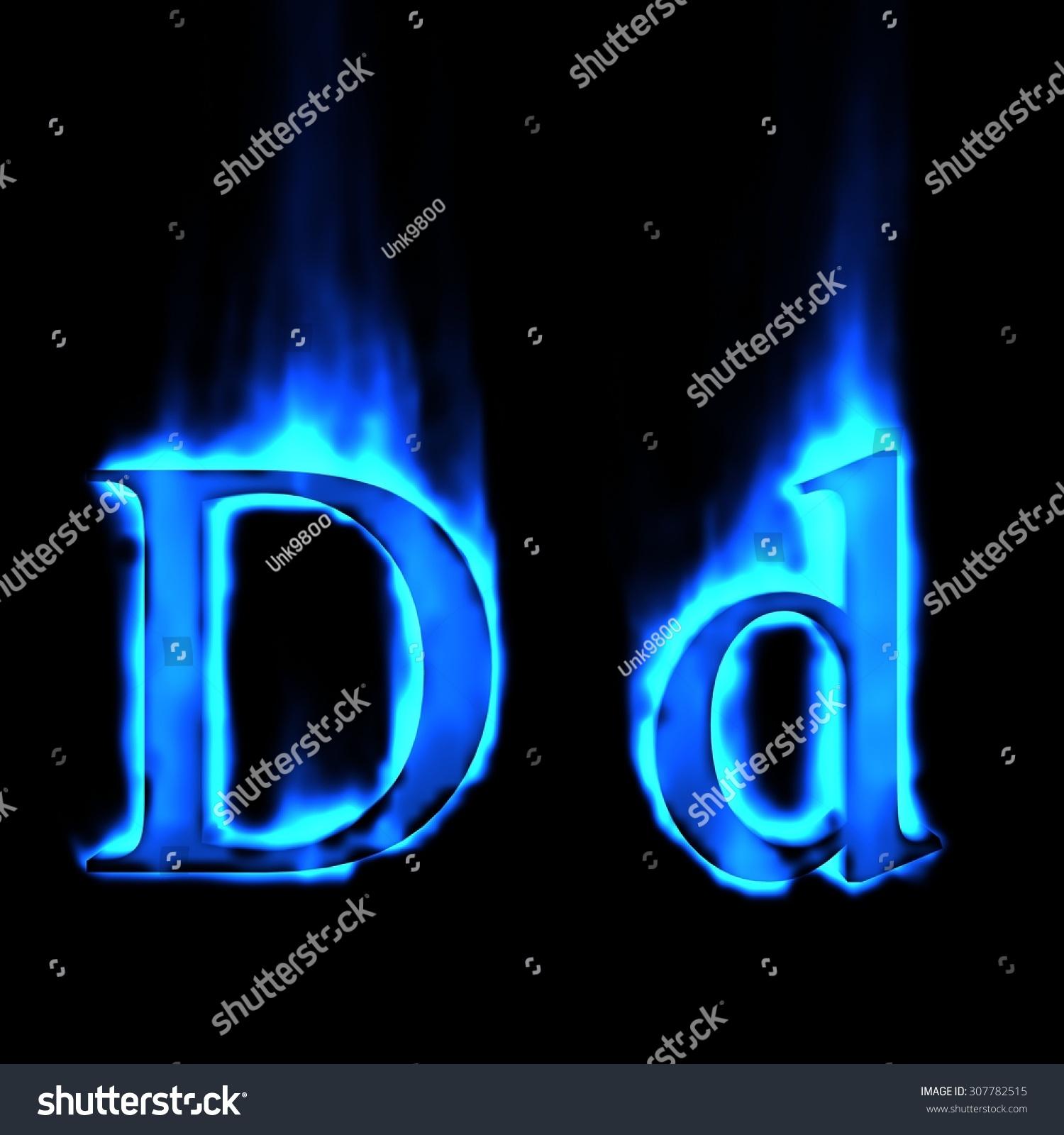 Font Magic Letter Flame I Blue