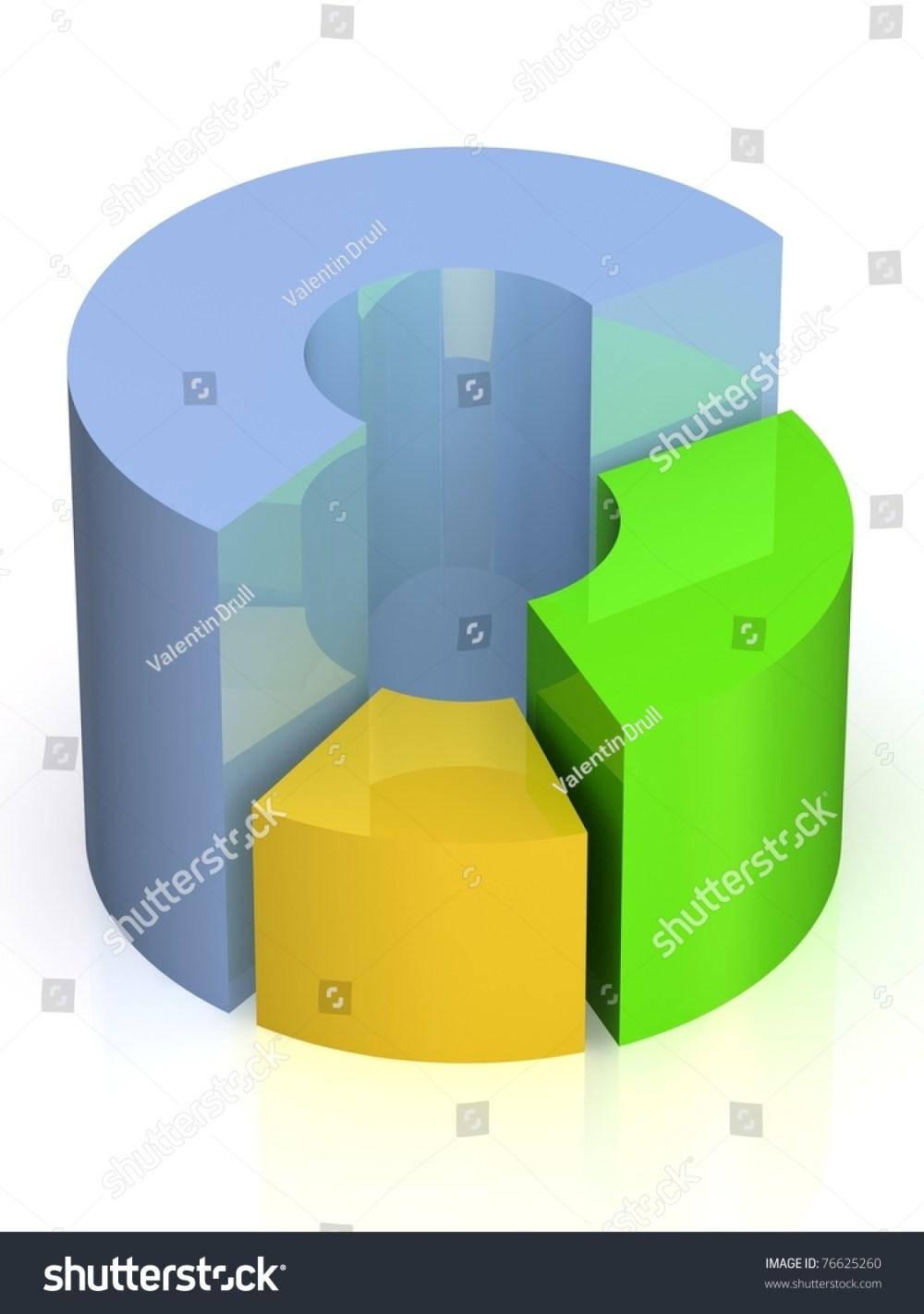 medium resolution of 3d circular diagram on white background