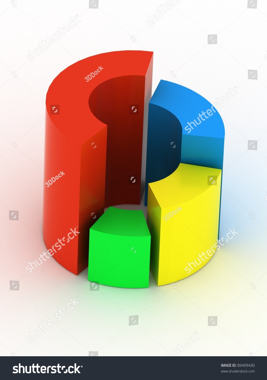 hight resolution of 3d circular diagram on white background