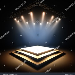 Blank Theatre Stage Diagram Dual Battery Wiring Boat 3d Render Illustration Template Layout Of Empty