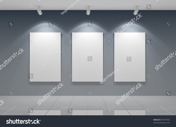 3d Render Of Empty Wall Stock 76757923