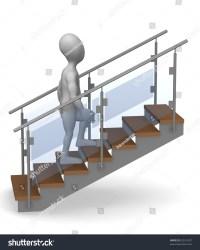 stairs cartoon character render 3d shutterstock