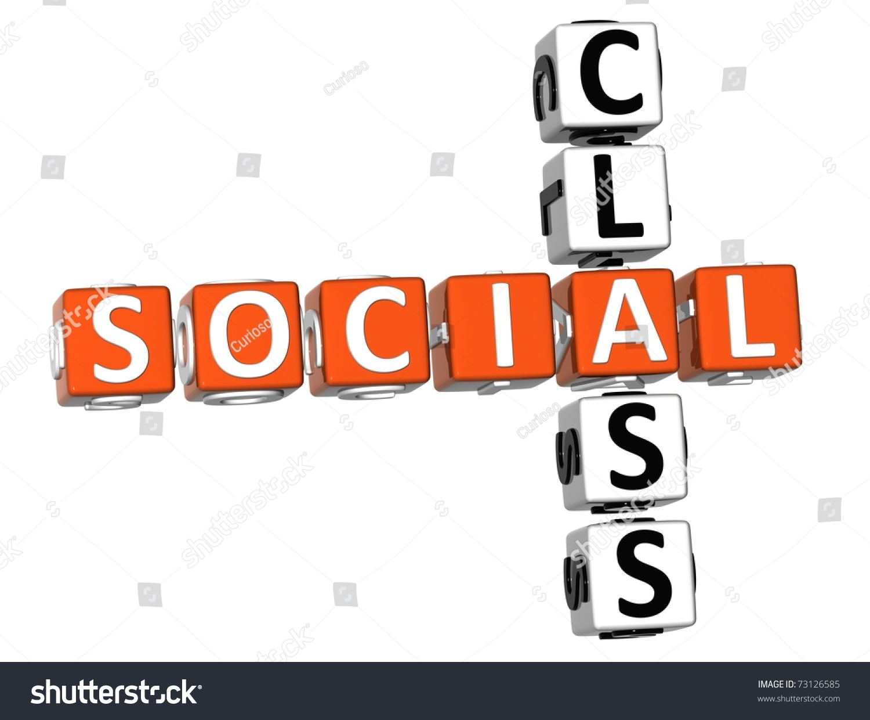 3d Social Class Crossword On White Background Stock Photo 73126585 : Shutterstock