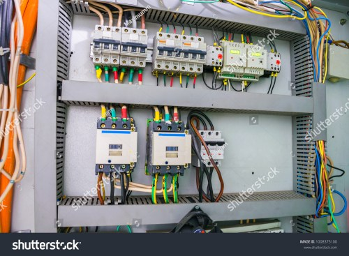 small resolution of fuse box with an electric relay and automatic machines electric board and high voltage switches