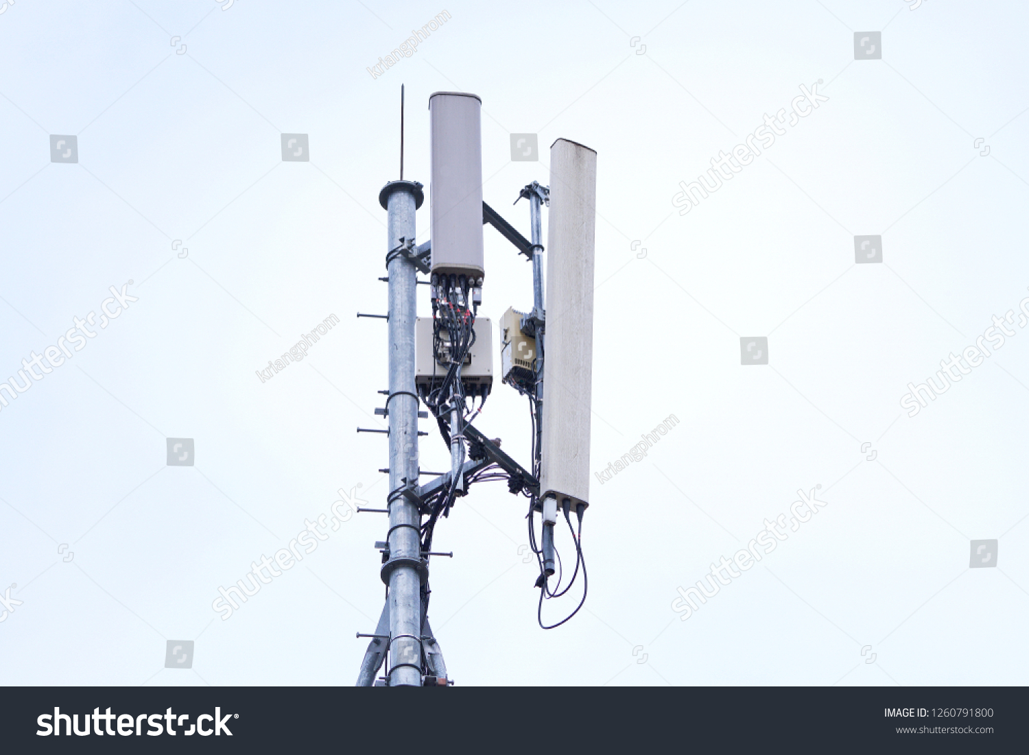 hight resolution of 3g 4g and 5g cell site base station or base transceiver station cell