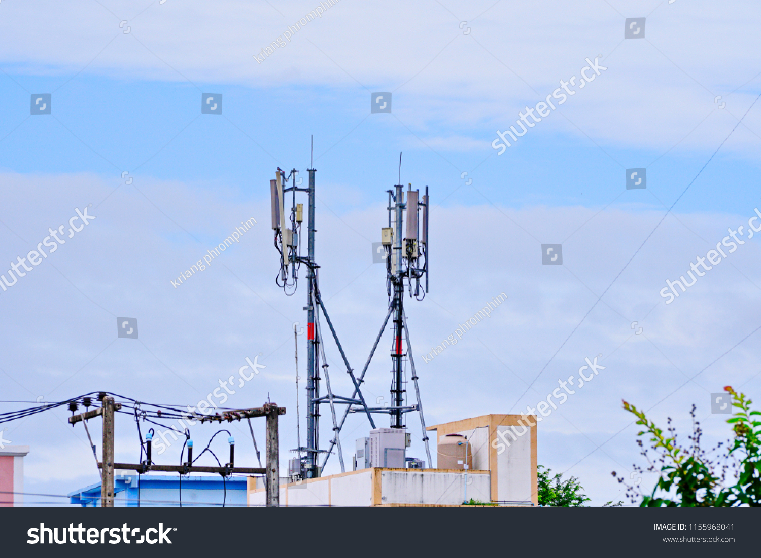 hight resolution of 3g 4g and 5g cell site telecommunication tower radio tower or mobile phone