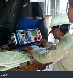 115kv current transformer on site testing of hybrid switchgear [ 1500 x 1101 Pixel ]