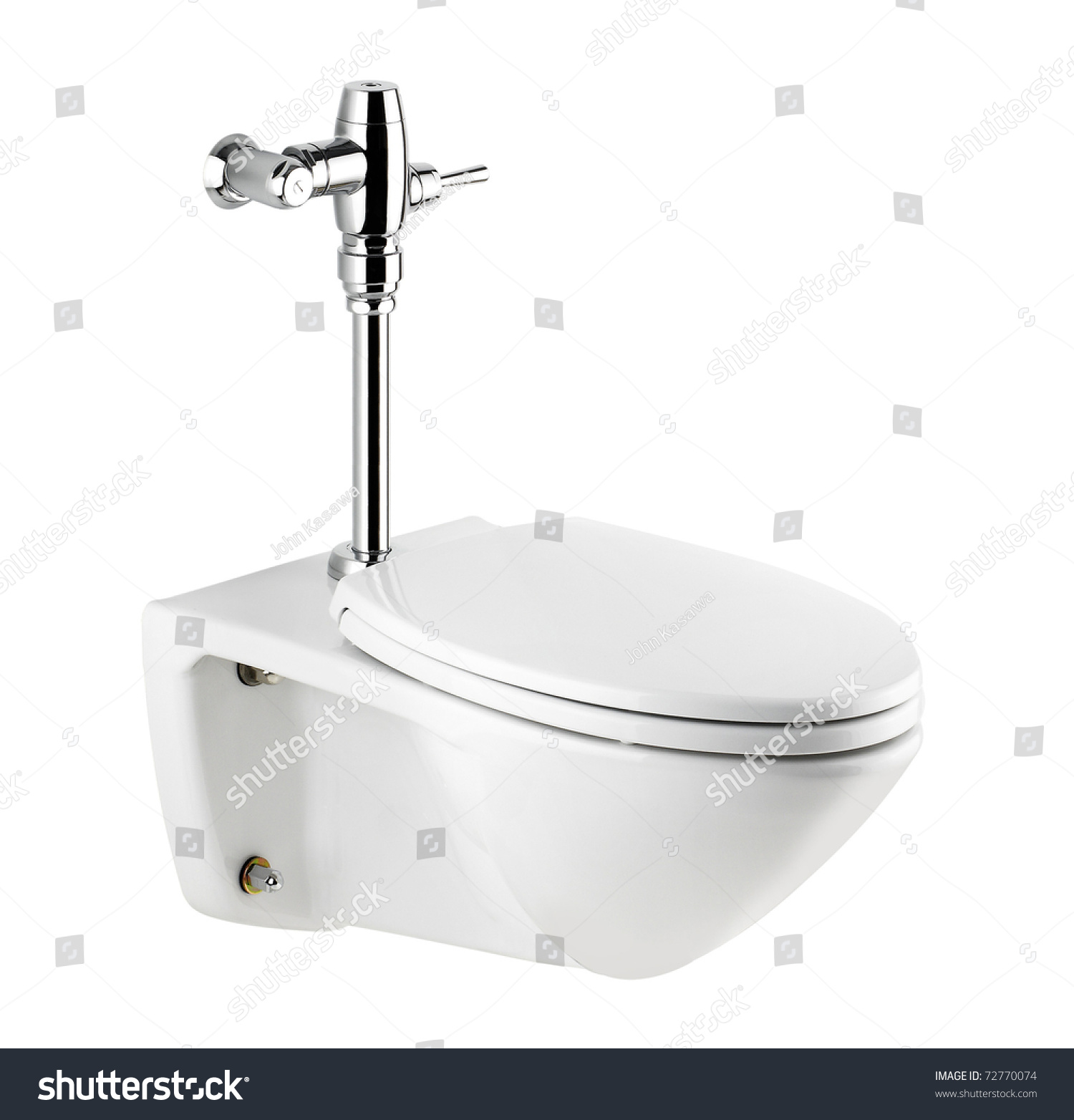 Nice Toilet And Urinate Bowl A Nice Bathroom Accessories Isolated On White Background Stock