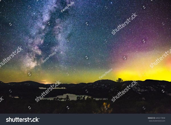 Northern Lights Aurora Borealis Milky Way
