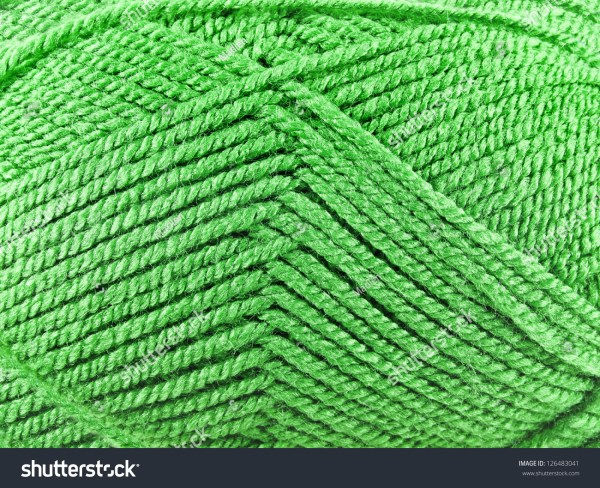 Skein Of Threads Yarn Close Up Texture Background Stock