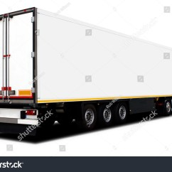 Semi Trailer Deutsch Gsxr 600 Wiring Diagram 2005 Big White Semitrailer Truck Isolated Stock Photo 34300798