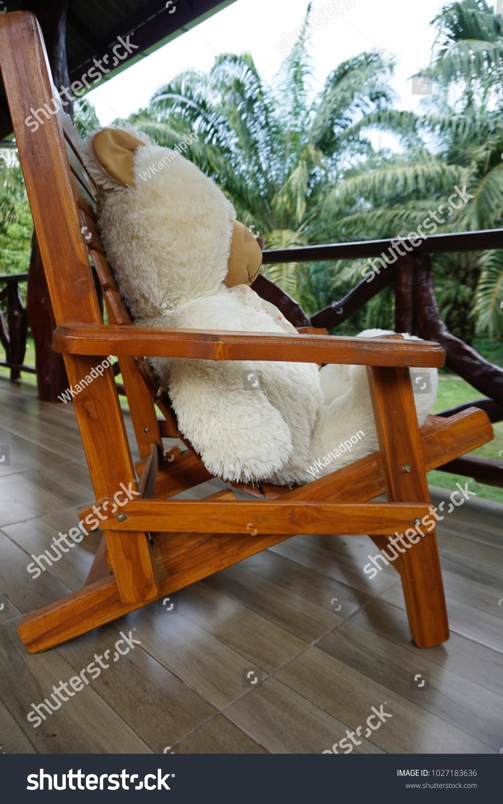 Big White Teddy Bear Sitting Alone Stock Photo Edit Now 1027183636