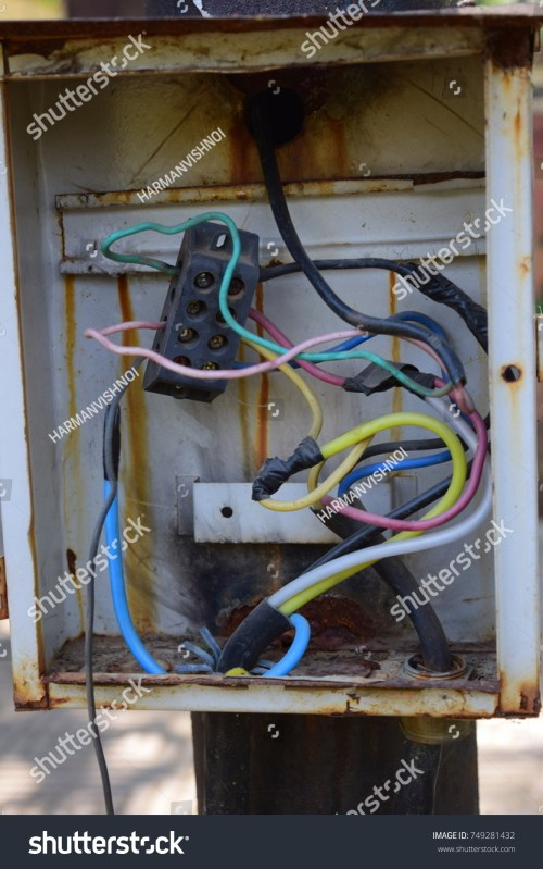 small resolution of a broken electrical junction panel box