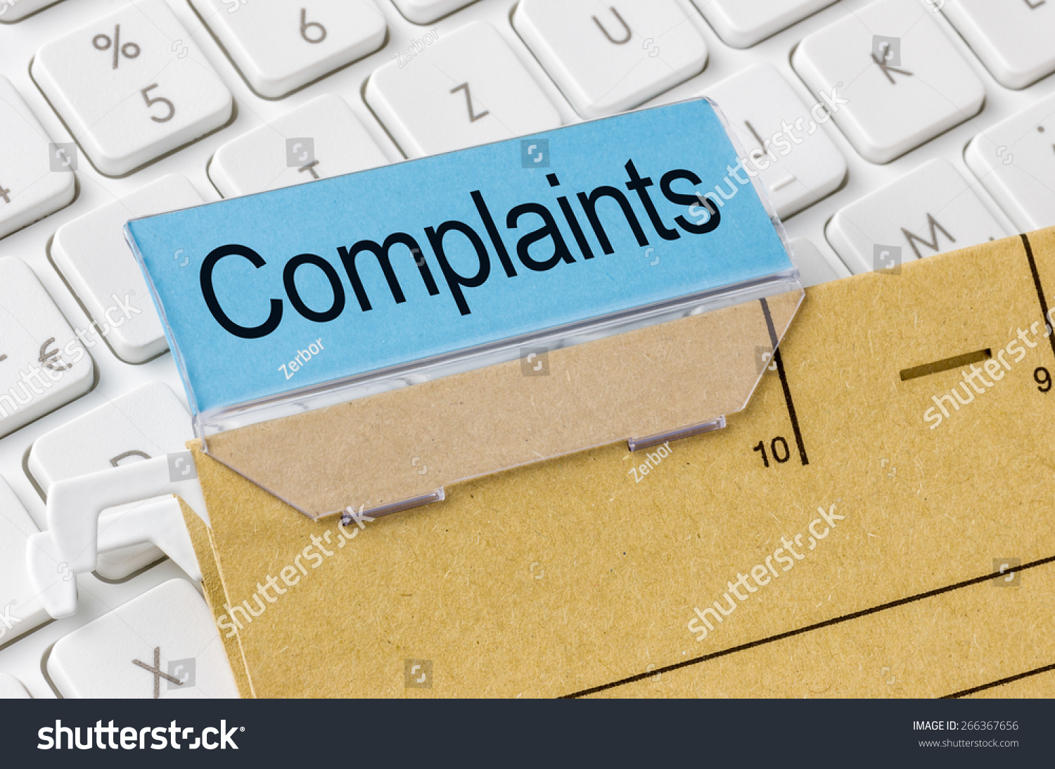 A Brown File Folder Labeled With Complaints Stock Photo 266367656 : Shutterstock