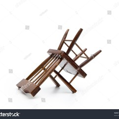 Chair Rail Upside Down Deck Book Stand Isolated On White Stock Photo 56517310