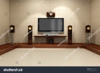 A Contemporary Home Theater Room Without Furniture ...