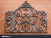 Decorative Piece Wrought Iron Mounted Bright Stock Photo ...