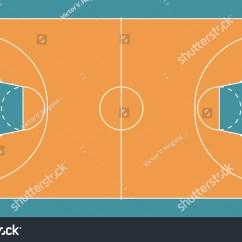 Multiple Basketball Court Diagram Holden Vt Stereo Wiring A Of Fiba Standard Stock Photo