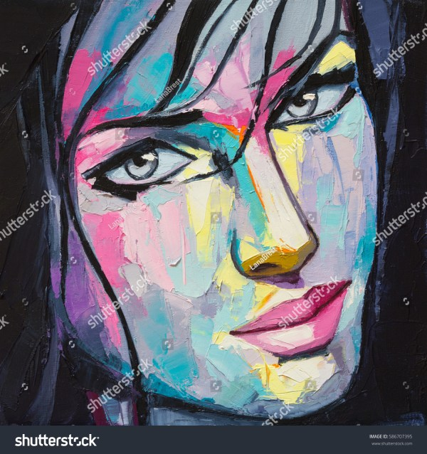 Pop Art Paintings Woman Portrait