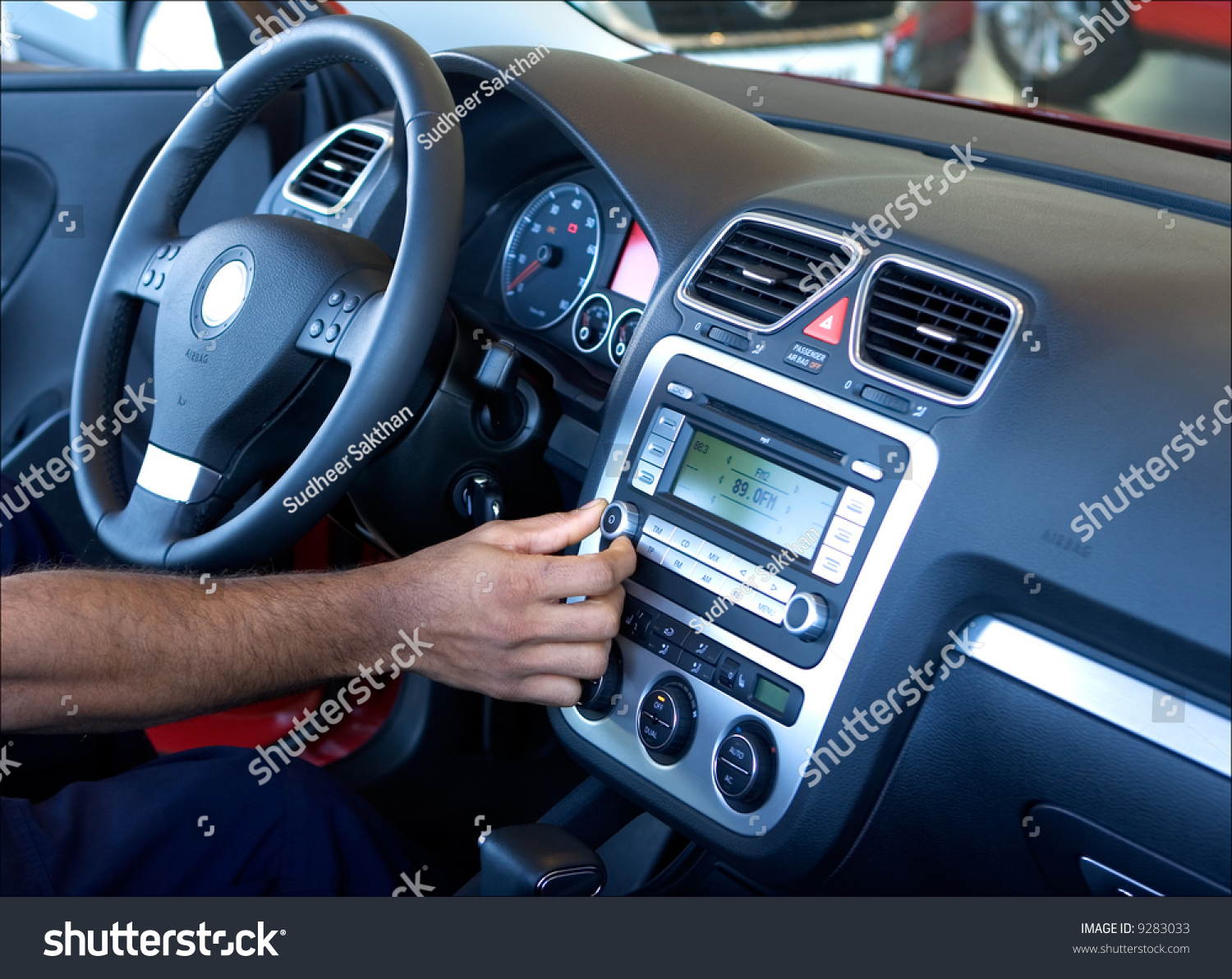 A Hand Tuning The Car Radio Stock Photo 9283033 : Shutterstock