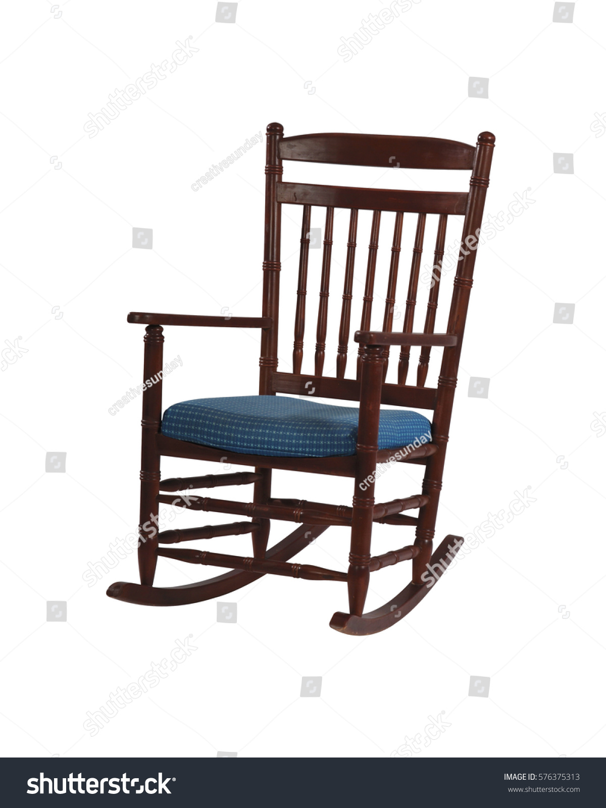 handmade rocking chairs go anywhere high chair isolate on white stock photo