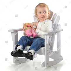 Baby Chair 1 Year Old Leaf Stand A Happy One Girl Feeding Her Doll In An